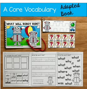 """What Will Robot Ride?"" (Working With Core Vocabulary)"