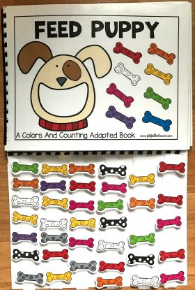 Feed Puppy: A Colors and Counting Adapted Book