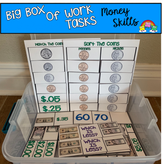 Big Box of Work Tasks: Money Skills Edition