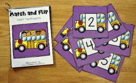 Back to School Match and Flip Books