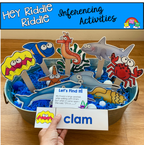 """Hey Riddle Riddle"" Ocean Activities For The Sensory Bin"