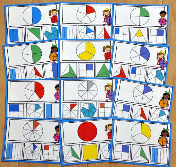 photo about Printable Task Cards identified as Fractions Undertaking Playing cards - $3.00 : Record Folder Video games at Record
