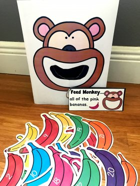 Sensory Bin Activities: Feed Monkey Activities