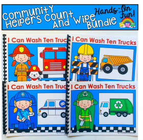 """I Can Wash Ten Trucks"" Adapted Book Set"