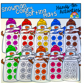 Snowman Colors Sorting Mats