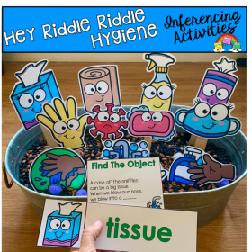 """Hey Riddle Riddle"" Hygiene Riddles For The Sensory Bin"