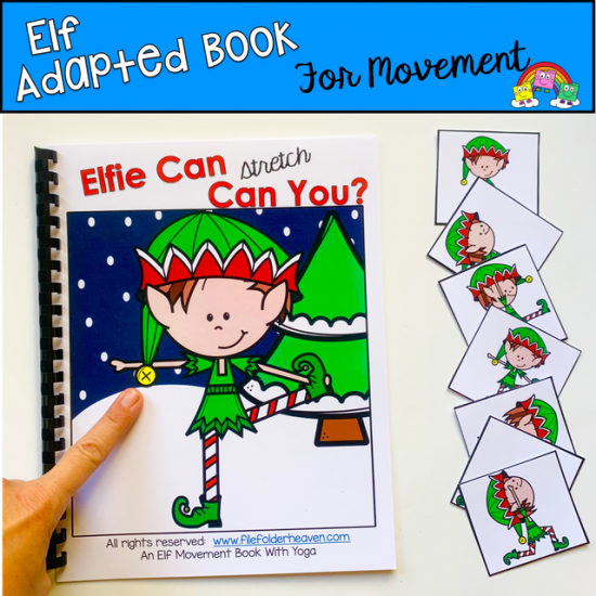 """Elfie Can Can You\"" Movement And Imitation Book"