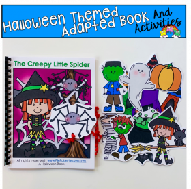 """The Creepy Little Spider"" Prepositions Adapted Book"