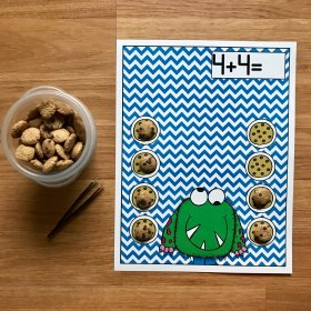 Monster Themed Cookie Cereal Math