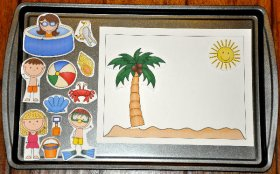 Build a Summer Scene Cookie Sheet Activity