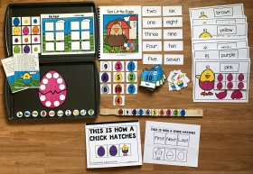 Ten Little Eggs Adapted Book and Activities