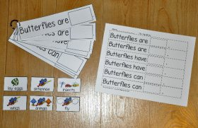 """Butterflies Are, Butterflies Have, Butterflies Can"" Flipstrips"