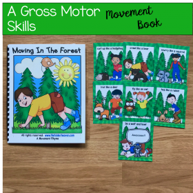 Forest Themed Movement Book (And Cards!)