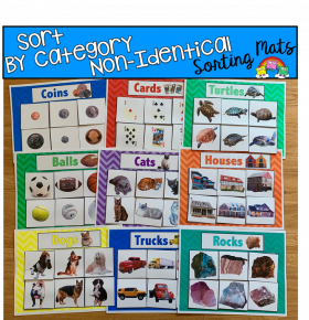 Sort By Category Sorting Mats (Set 2) W/Real Photos