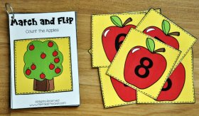 Apple Match and Flip Activities 2