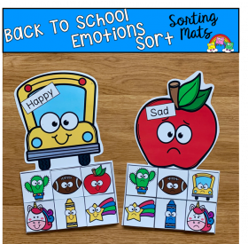 Back To School Emotions Sorting Mats
