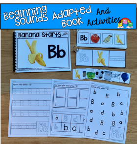 """Banana Starts With B"" (Beginning Sounds Book And Activities)"
