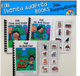 Fall Prepositions Adapted Books