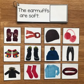 Winter Clothes Sentence Comprehension and Matching w/Real Photos