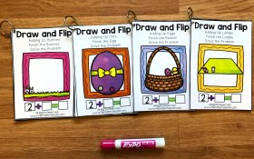Easter Math Draw and Flip Books