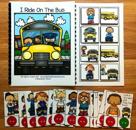 Bus Behavior Adapted Book and Task Cards