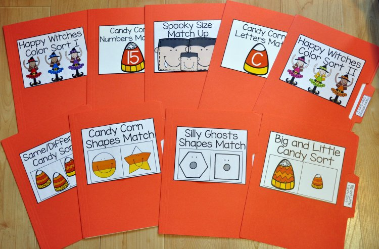 Halloween File Folder Games Mini-Bundle