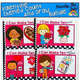 """I Can Make Ten"" Valentine's Day Count And Draw Books Bundle"