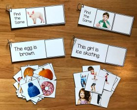 Matching and Sentence Comprehension Activities w/Real Photos