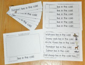Cold Climate Animals Fluency Activities II