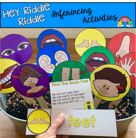 """Hey Riddle Riddle"" Body Parts Activities For The Sensory Bin"