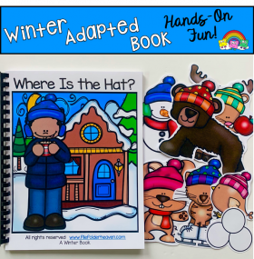 """Where is the Hat?"" Winter Adapted Book"