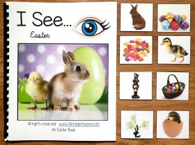 """I See"" Easter Adapted Book w/Real Photos"
