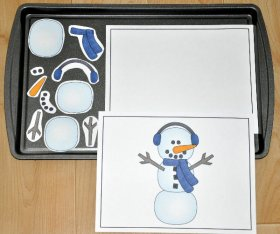 Build a Snowman Cookie Sheet Activity