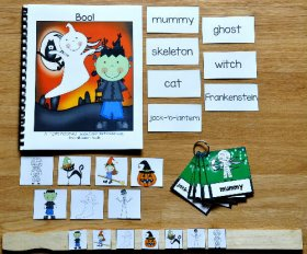 """Boo!"" Halloween Adapted Book and Vocabulary Activities"