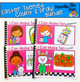 Easter Count And Draw Adapted Books Bundle