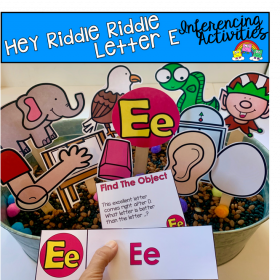 """Hey Riddle Riddle"" Letter E Activities For The Sensory Bin"