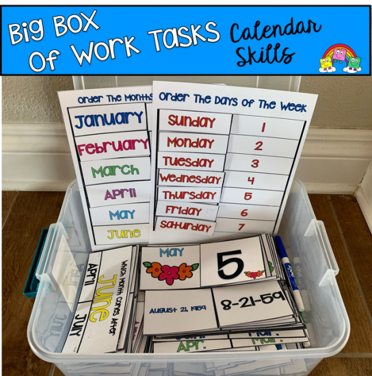 Big Box of Work Tasks: Calendar Skills Edition