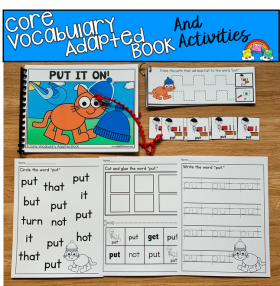 """Put It On"" (Working With Core Vocabulary)"