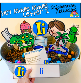"""Hey Riddle Riddle"" Letter I Activities For The Sensory Bin"
