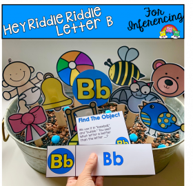 """Hey Riddle Riddle"" Letter B Activities For The Sensory Bin"
