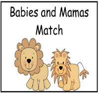 Babies and Mamas Match File Folder Game