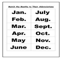 Months of the Year Abbreviations Cookie Sheet Activity - $1.00 ...