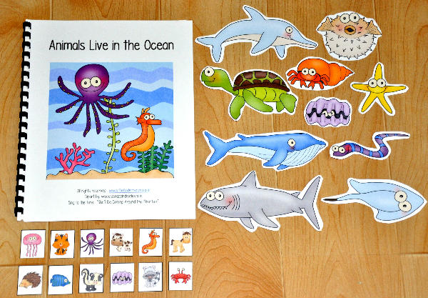 """Animals Live in the Ocean"" Adapted Song Book"
