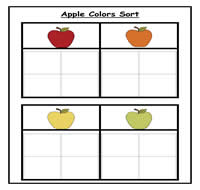 Apple Colors Sorting Task
