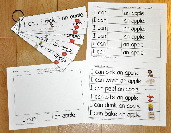Apple Fluency Flipstrips Activities