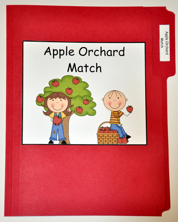Apple Orchard Match File Folder Game