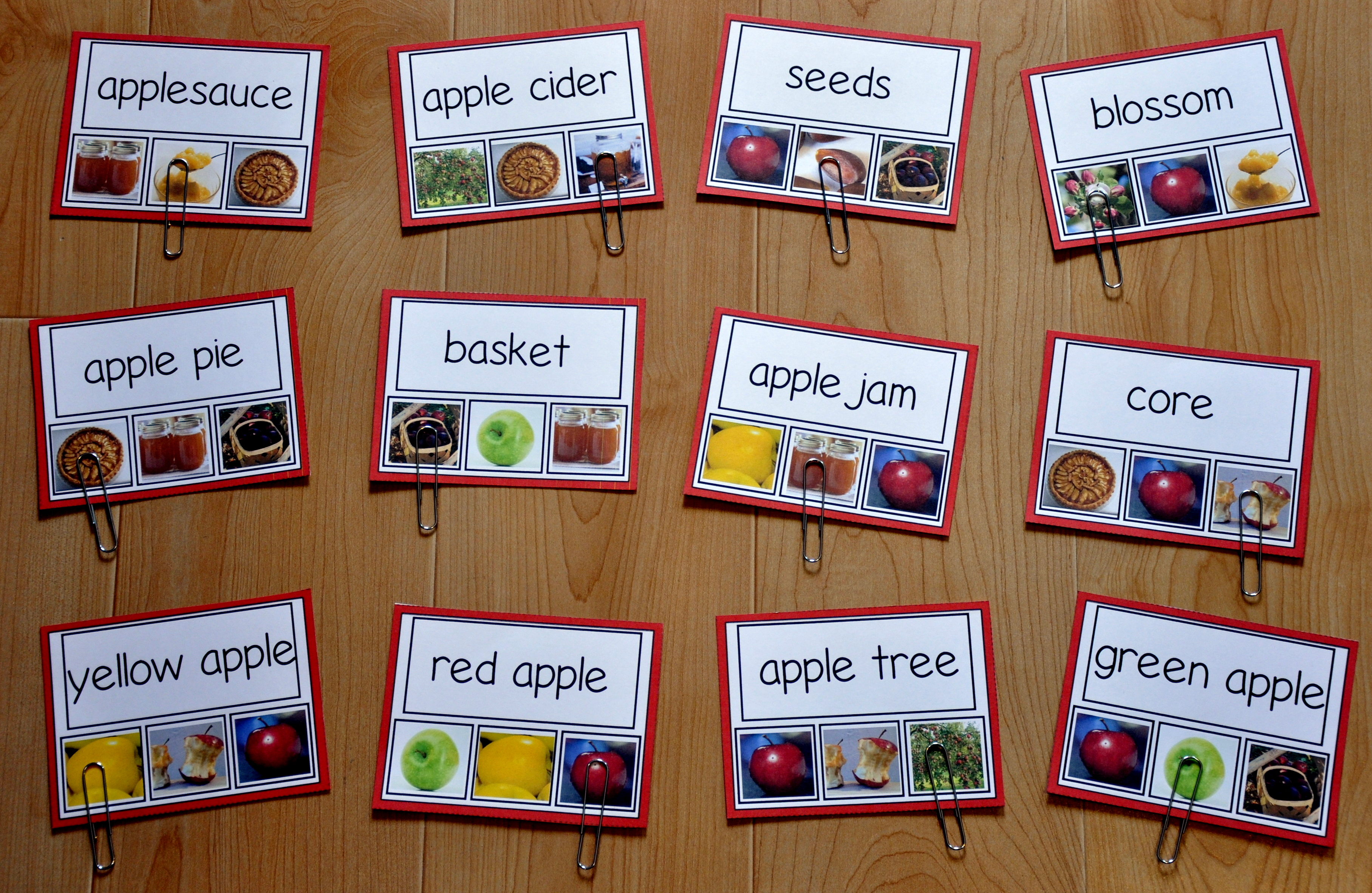 Apples Task Cards