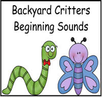 Backyard Critters Beginning Sounds File Folder Game