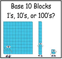 Base Ten Blocks: Identify the Blocks File Folder Game