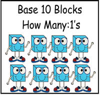 Base Ten Blocks: How Many 1's File Folder Game